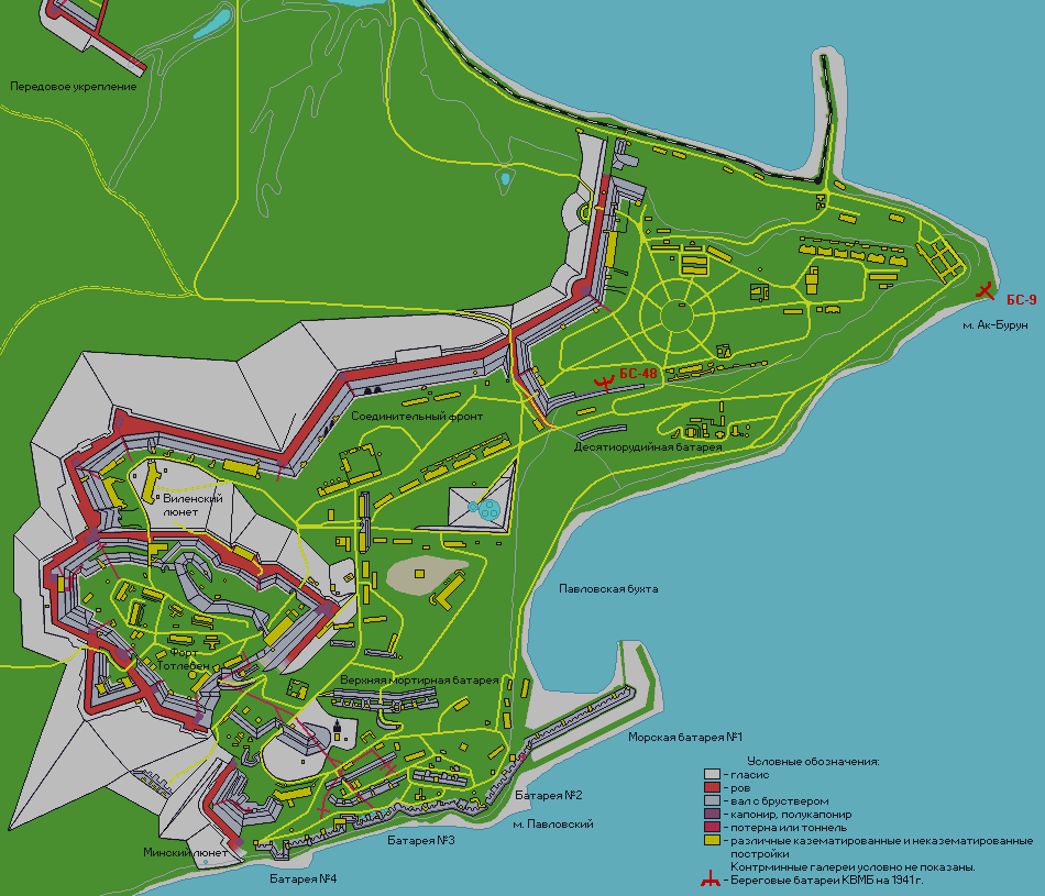 Крепость Керчь. План.