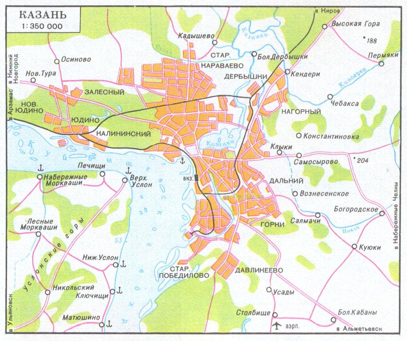 Щербаковка Казань Карта