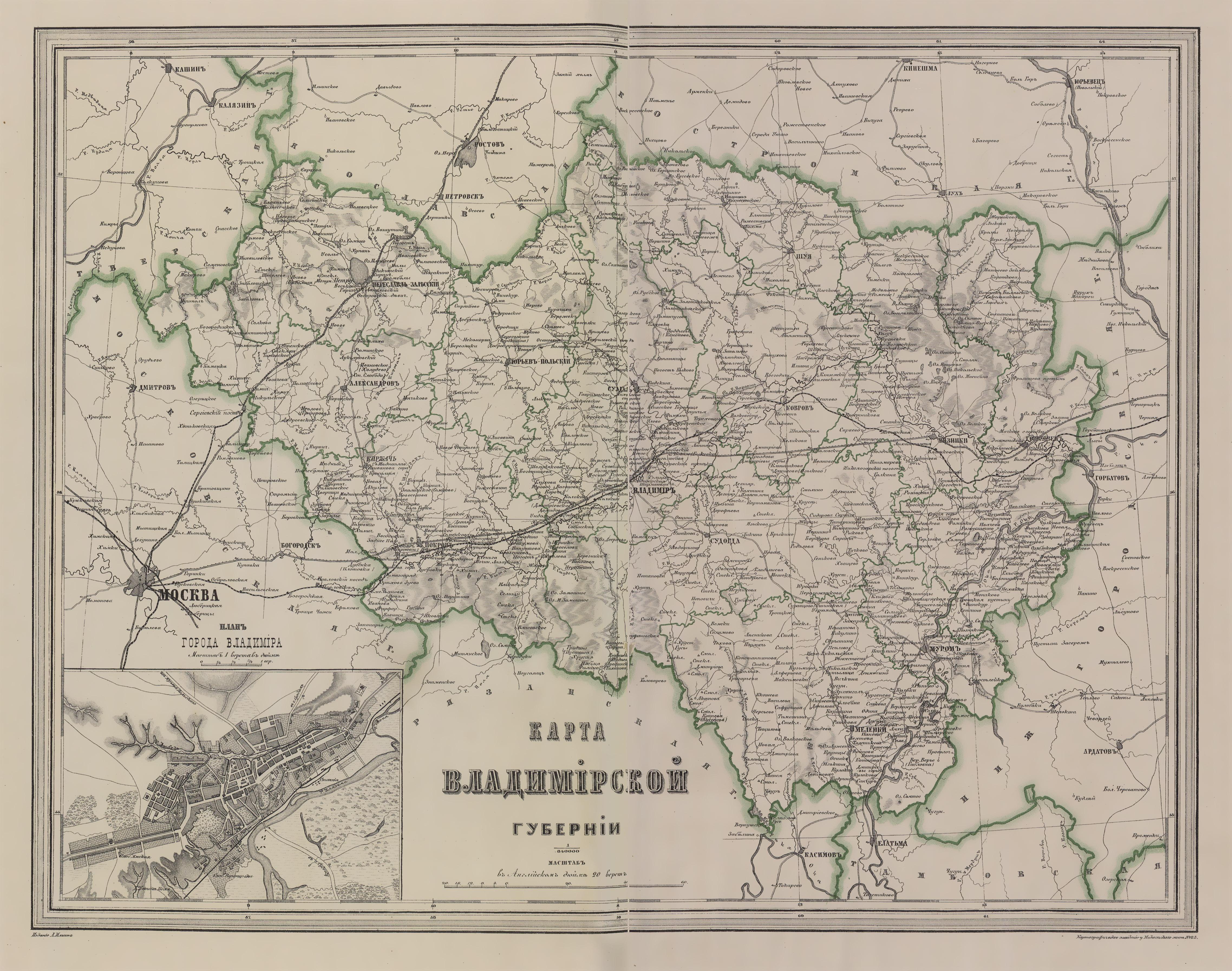 карта старой владимерского тракта если нем говорится
