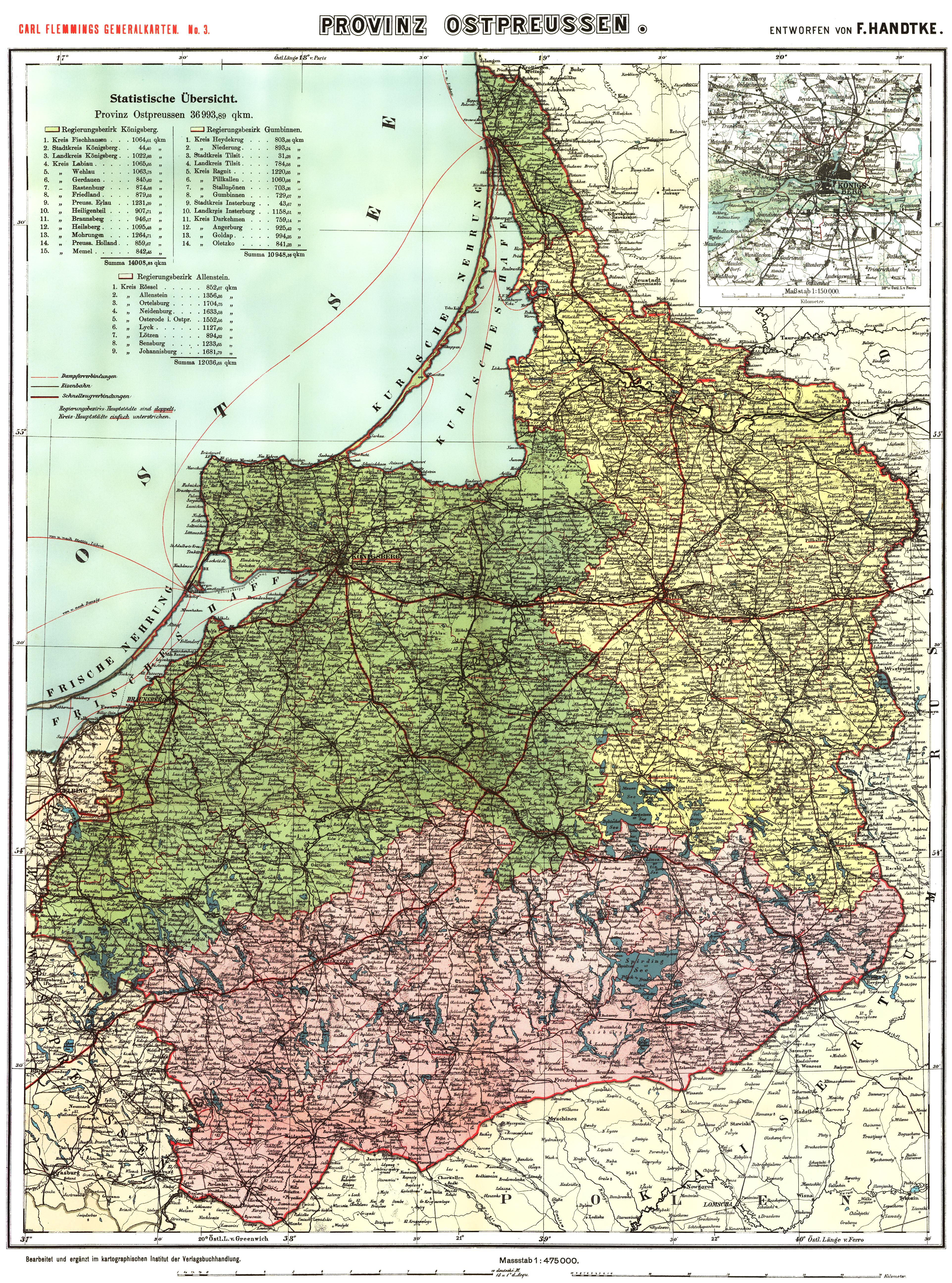 Историческая карта Восточной Пруссии 1910 года скачать: http://www.etomesto.ru/karta656/
