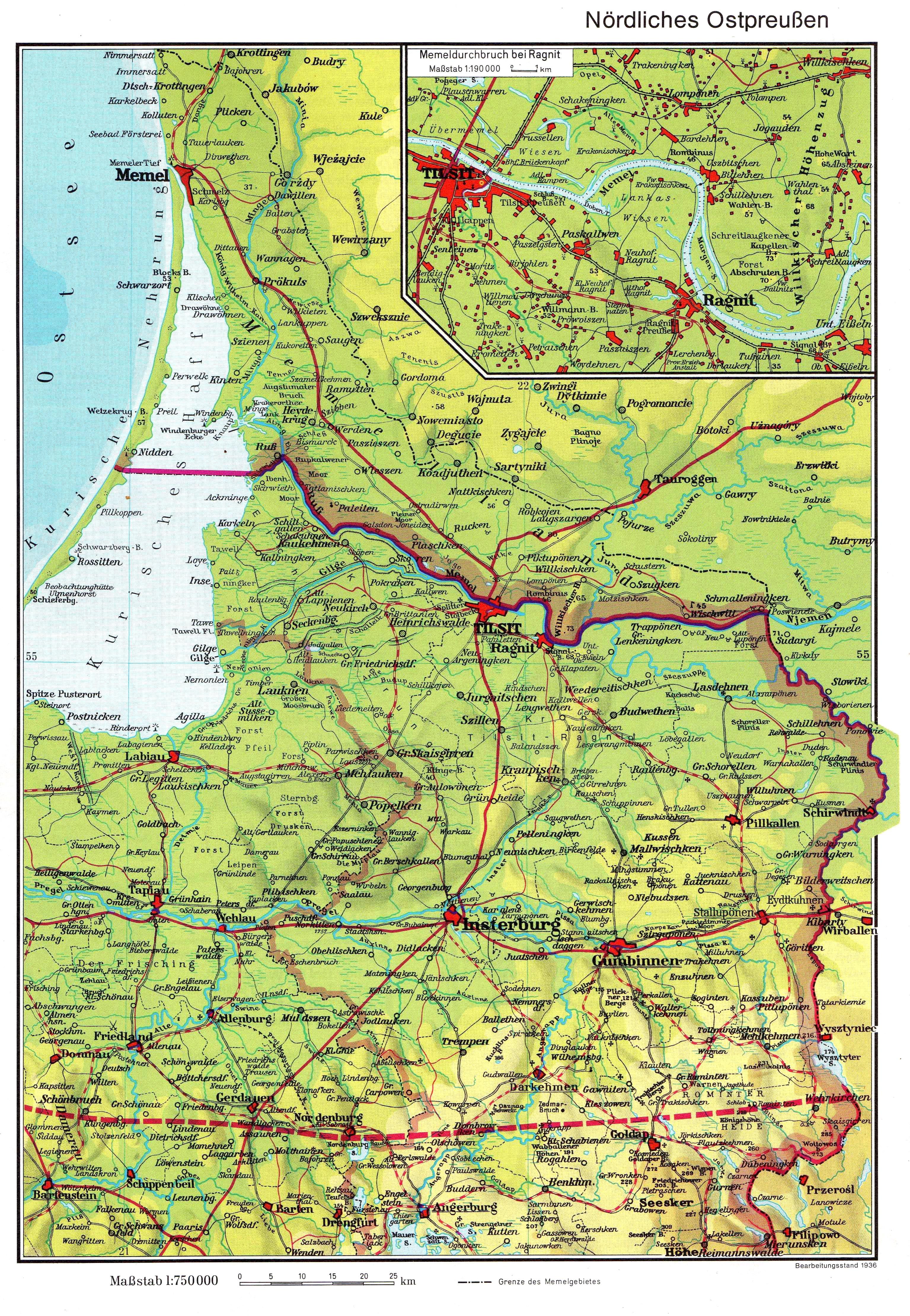 Карта северной части Восточной Пруссии 1936 года скачать: http://www.etomesto.ru/karta658/