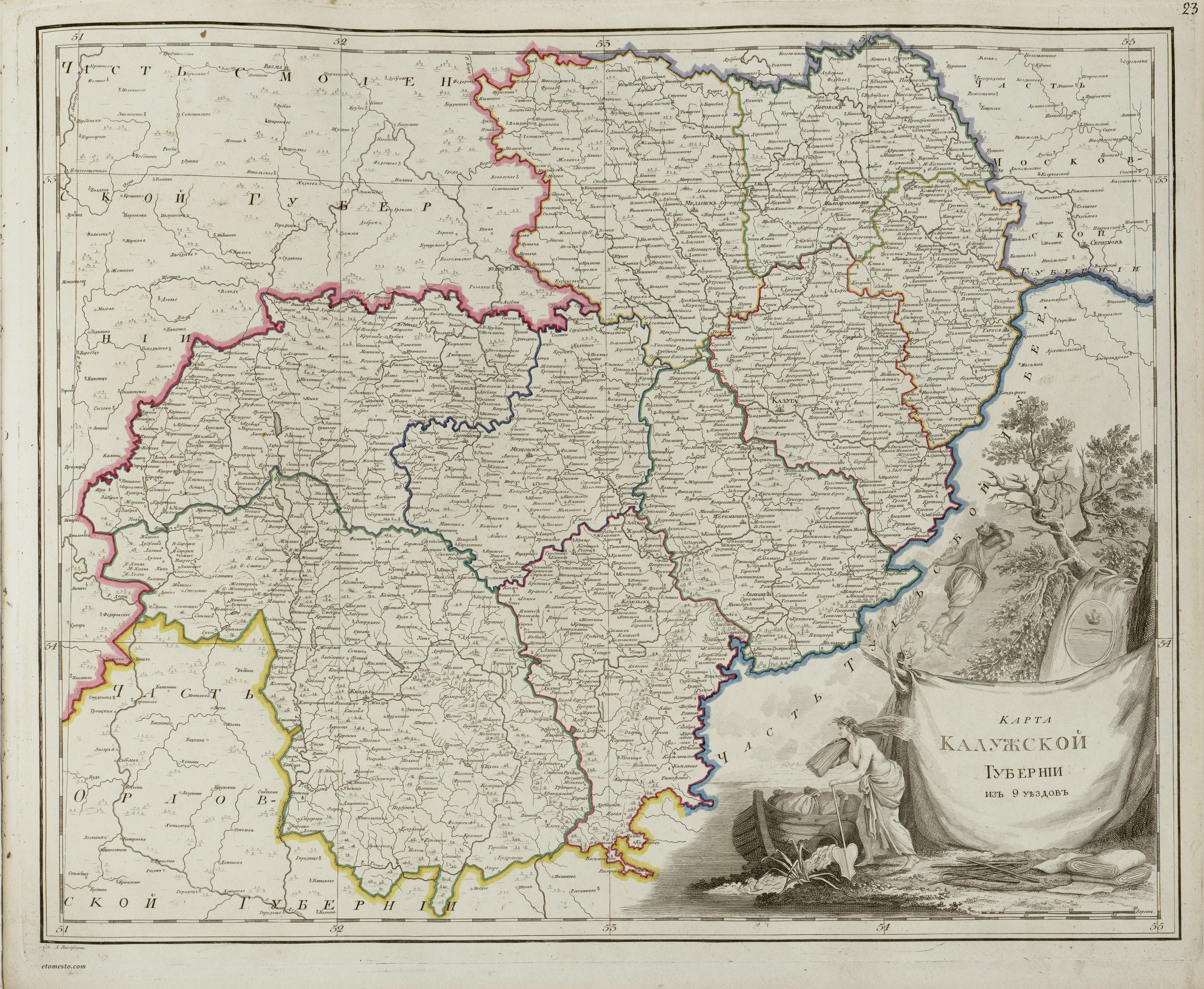 дореволюционные карты калужской губернии