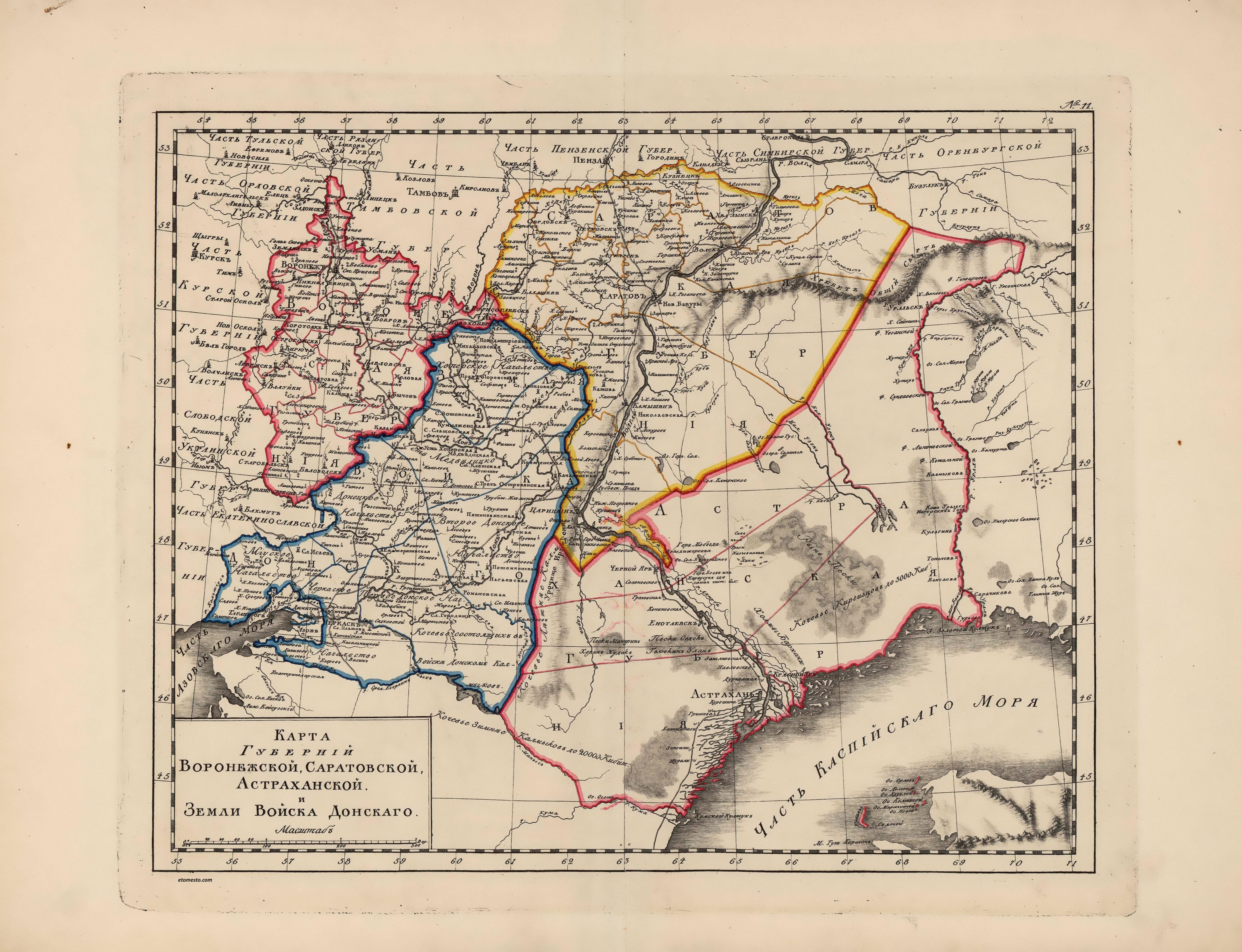 Карта шуберта лист xxxviii