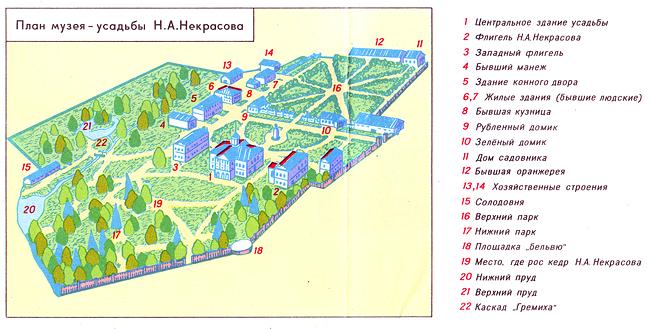 План музея-усадьбы Н.А.